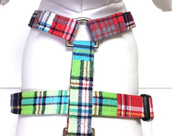 Naked Dog Harness- The Mad About Plaid- Adjustable Harness