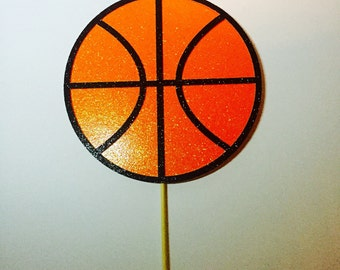 Glitter Basketball cake topper