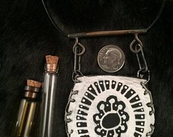 Leather Medicine Bag, talisman bag, medicine bag necklace