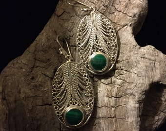 Silver Filigree Earrings Classic