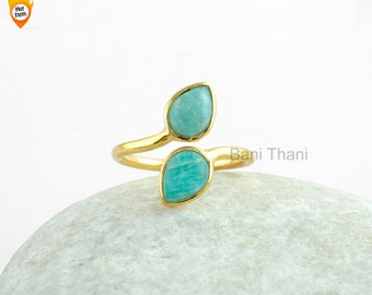 market il amazonite rings ring etsy
