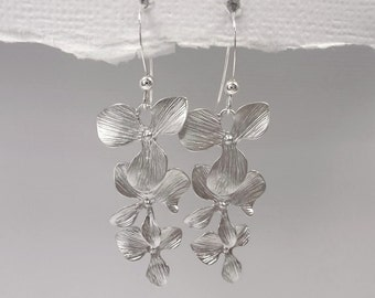 Orchid Earrings, Orchid Wedding Earrings, Wedding Earrings, Bridesmaid Earrings, Bridesmaid Gift, Bridesmaid Jewelry, Gift for Her