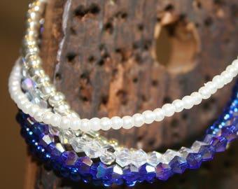 Sparkling Five Strand Bracelet