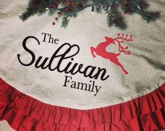 Charming Tree Skirt, Personalized Christmas Tree Skirt, Personalized Tree Skirt, Christmas  Tree, Christmas