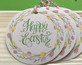 Happy Easter / Easter Floral / Favor / Gift tags