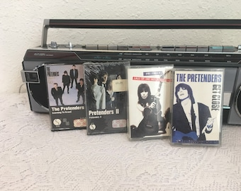 THE PRETENDERS cassette lot, Get Close, Last of the Independents, II, Learning to Crawl, vintage cassette tape, music cassette