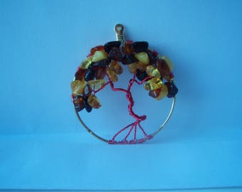 Baltic Amber Tree of Life Pendant