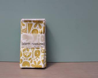 Cloth Napkins, Set of 6, Organic Cotton, 14 inch