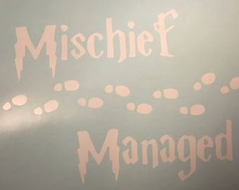 Mischief Managed decal, Harry Potter Marauder's Map decal