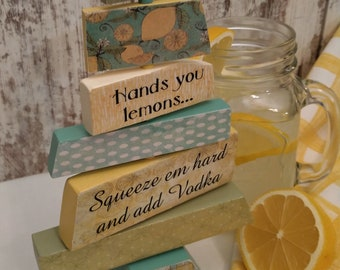 When life hands you lemons tree sign