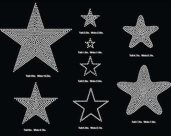 Stars , star Rhinestone Template, V tail, 3 inch rhinestone digital download, svg, eps, studio3, png, dxf