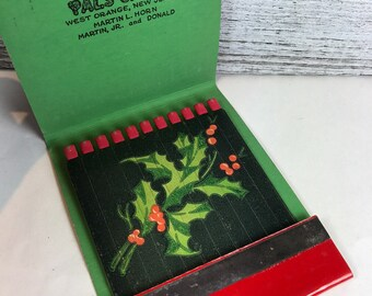 Vintage Advertising Holiday Christmas MatchBook - Holly leaves