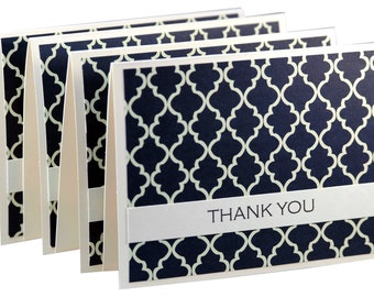 Set of 12 simple thank you cards, modern thank you notes, handmade thank you card set, wedding thank you cards