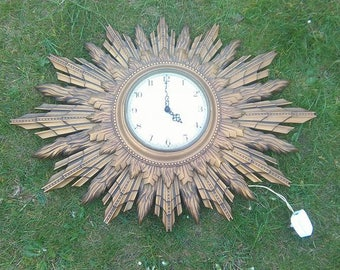 Smiths very very large sunburst clock