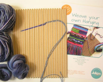 Weave a Wall Hanging in Blue/Ocean colours, Weaving Kit