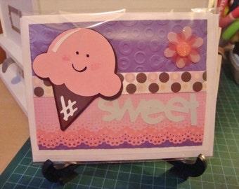 SWEET ice-cream greeting card