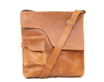 Leather messenger bag ,  women messenger bag , Leather crossbody bag ,
