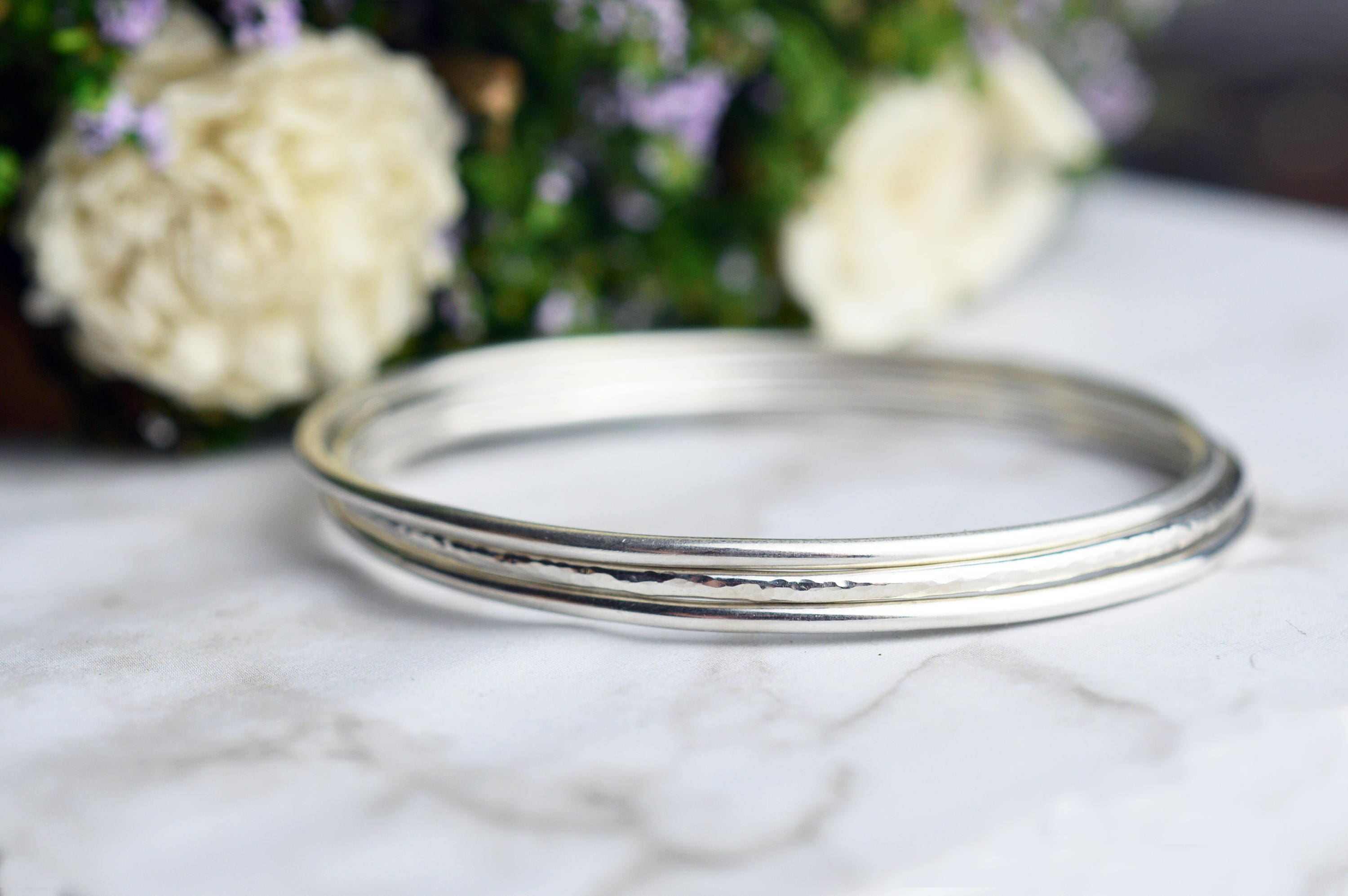 pin cuff exotic plain handmade silver polish bangle bracelet women sterling bangles