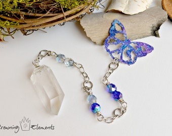 Clear Quartz Butterfly Pendulum
