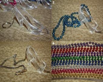 "Plastic High Heel ""Glass Slipper"" Shoe"