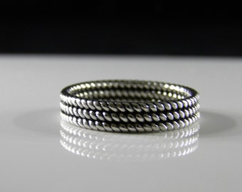 Sterling Silver Band Ring - Ladies Size 8 - READY TO SHIP