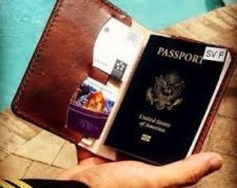 Personalized passport wallet, travel wallet, passport case, passport holder, wedding gift, third anniversary gift