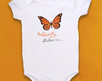 Monarch Butterfly, Cute Baby bodysuit, Unique Baby clothes, Baby Bodysuit, Kids Clothes, Little Girl Clothes, butterfly, baby girl, gift