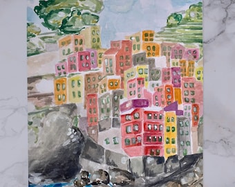 "Riomaggiore | 5"" x 7"" 