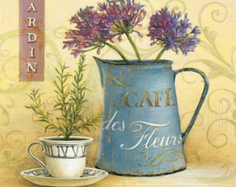 Cafe des Fleurs - Cross stitch pattern pdf format