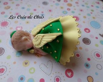 baby girl Angel Wings fimo.