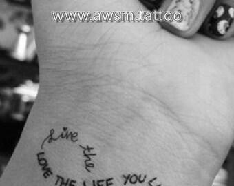 Infinity tattoo, wrist tattoo, temporary tattoo, quote temporary tattoo, Infinity  temporary tattoo, sister tattoo, love tattoo