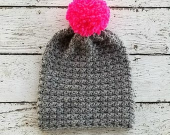 Slouchy Beanie Crochet PATTERN - Crochet Toque Pattern - Crochet Hat Pattern - Easy Crochet Pattern