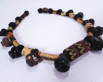 African Powder Glass Trade Bead String Vintage