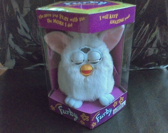 Furby Electronic Furby Model 70-800 Tiger Vintage toys Ages 6 and up Sealed package white with pink ears 1998