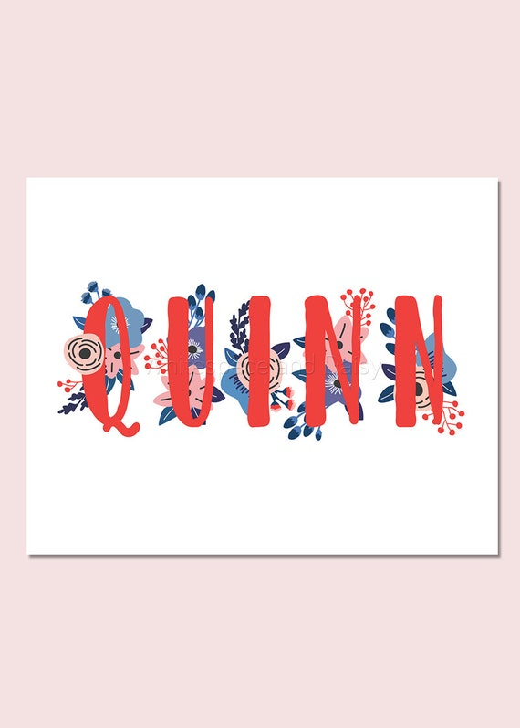 Quinn personalized name sign nursery wall art baby shower like this item negle Choice Image