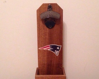 Wall Mounted Bottle Opener - New England Patriots