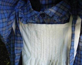 Prairie Dress, pinafore & slat bonnet, size 6