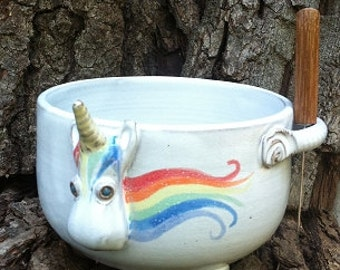 Elwood the Rainbow Unicorn Dip Bowl