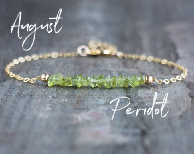Featured listing image: Raw Peridot Bracelet