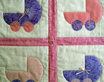 Baby Buggy Quilted Wall Hanging by Made Marion