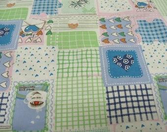 decorative patchwork cotton fabric