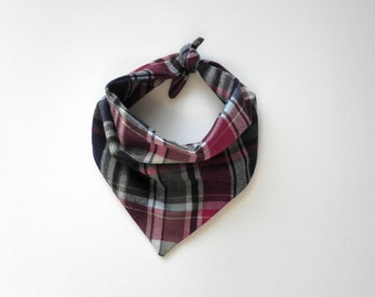 Plaid Bandana - Red, Green, Black