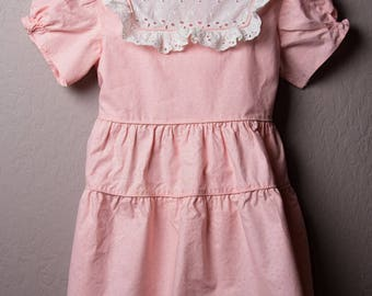 Vintage Party Dress, 1940s Size 5 Handmade Party Dress