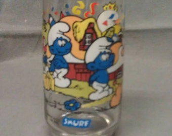 Smurf Smurfette Glass Tumbler