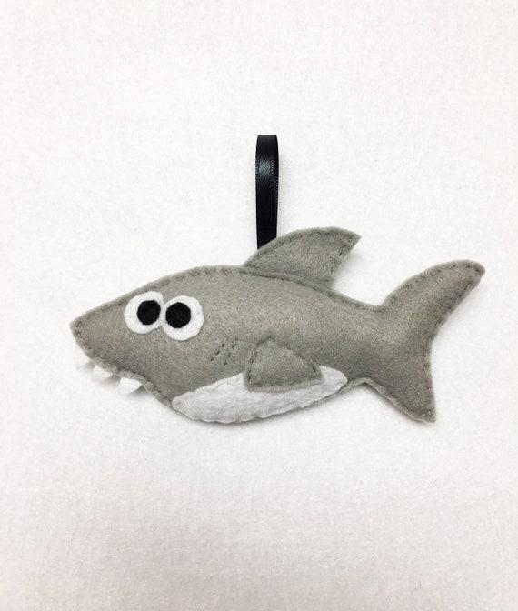 Shark Ornament, Christmas Ornament, Stephen the Shark, Ocean Animal, Sea Decoration, Animal lover gift, Oceanography, Shark Gift