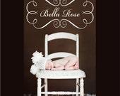 Items Similar To Custom Baby Frame Bella Design Swirly