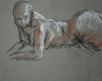 Jay Gesture 72/Figure Drawing/Pastel