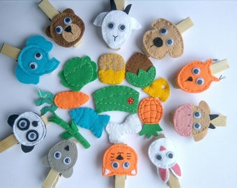 Developing felt game Who Eats What Feed the animals Felt quiet game Motor skils Busy toddler toy Baby activity Montessori busy game Gift toy