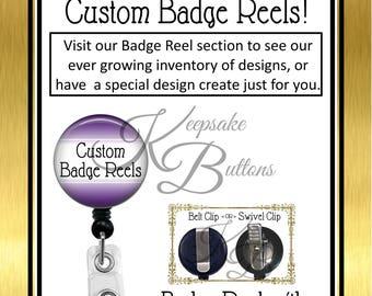 Custom Badge Reel, Personalized Name Badge Reel, Medical Badge Reels, Business Badge Reels, Personalized Badge Reels, Retractable Badge Reel