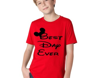 Best day ever Disneyland and Disney World t shirt for kids boys and girls matching shirts for the whole family available in heath